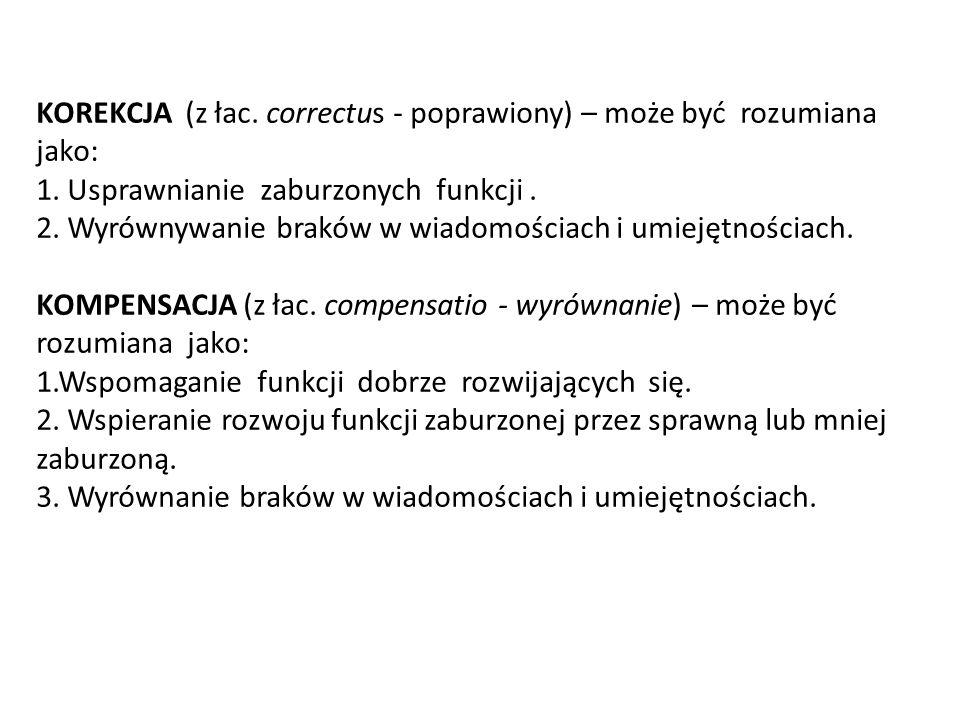 KOREKCJA (z łac. correctus - poprawiony) – może być rozumiana jako: