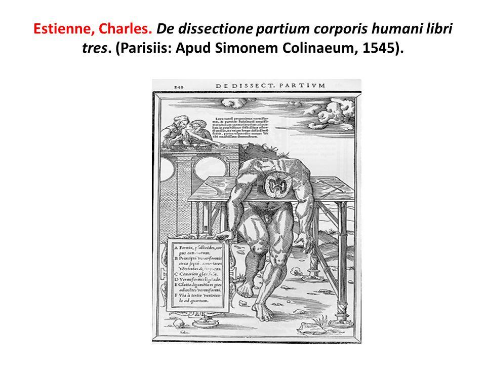 Estienne, Charles. De dissectione partium corporis humani libri tres