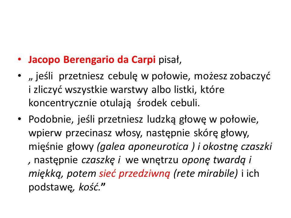 Jacopo Berengario da Carpi pisał,