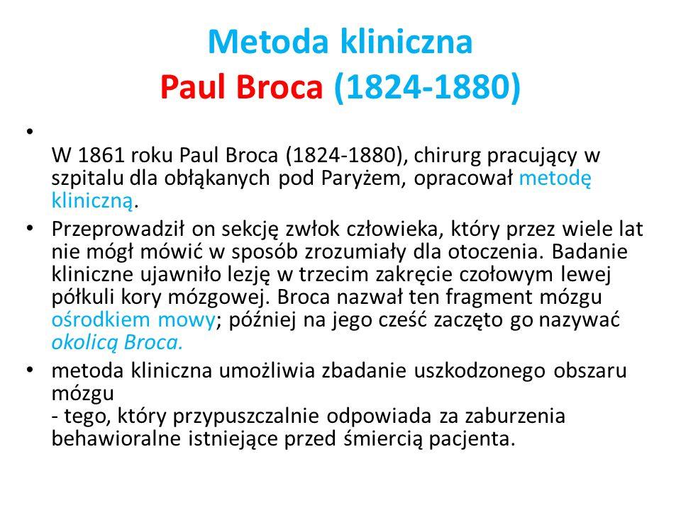 Metoda kliniczna Paul Broca (1824-1880)