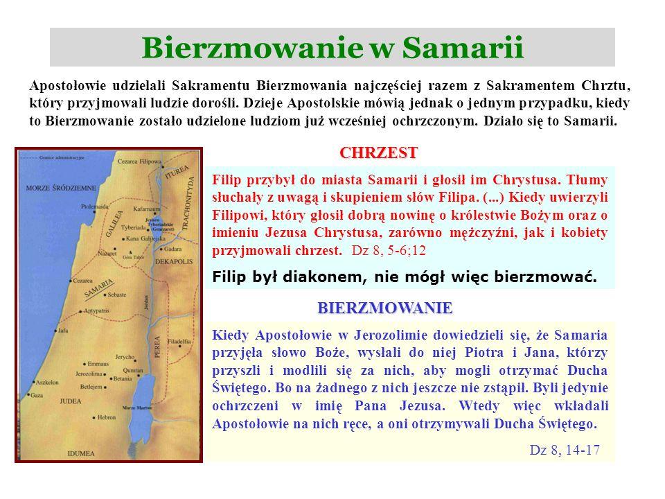 Bierzmowanie w Samarii