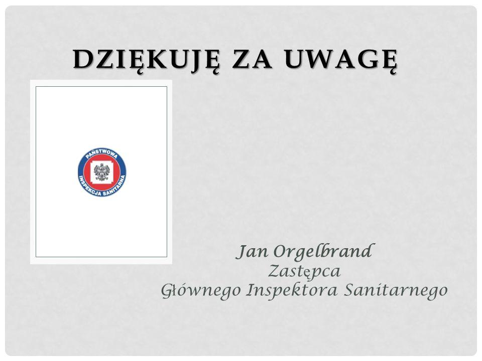Jan Orgelbrand Zastępca Głównego Inspektora Sanitarnego