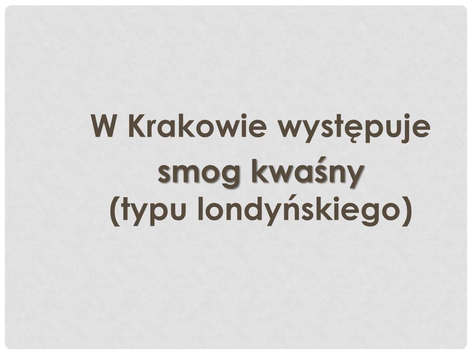 W Krakowie występuje smog kwaśny (typu londyńskiego)