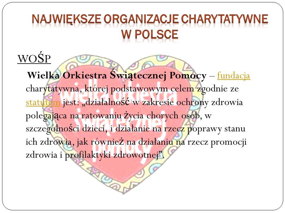 Największe Organizacje Charytatywne W Polsce