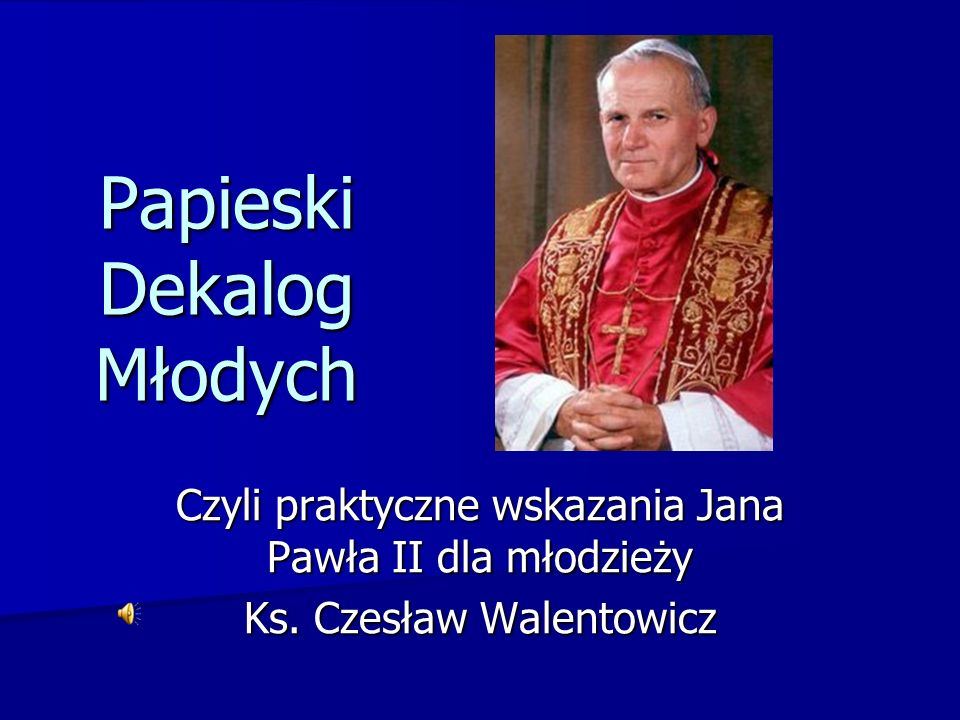 Papieski Dekalog Młodych