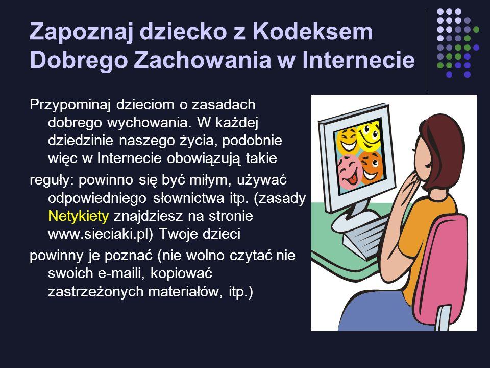 Zapoznaj dziecko z Kodeksem Dobrego Zachowania w Internecie