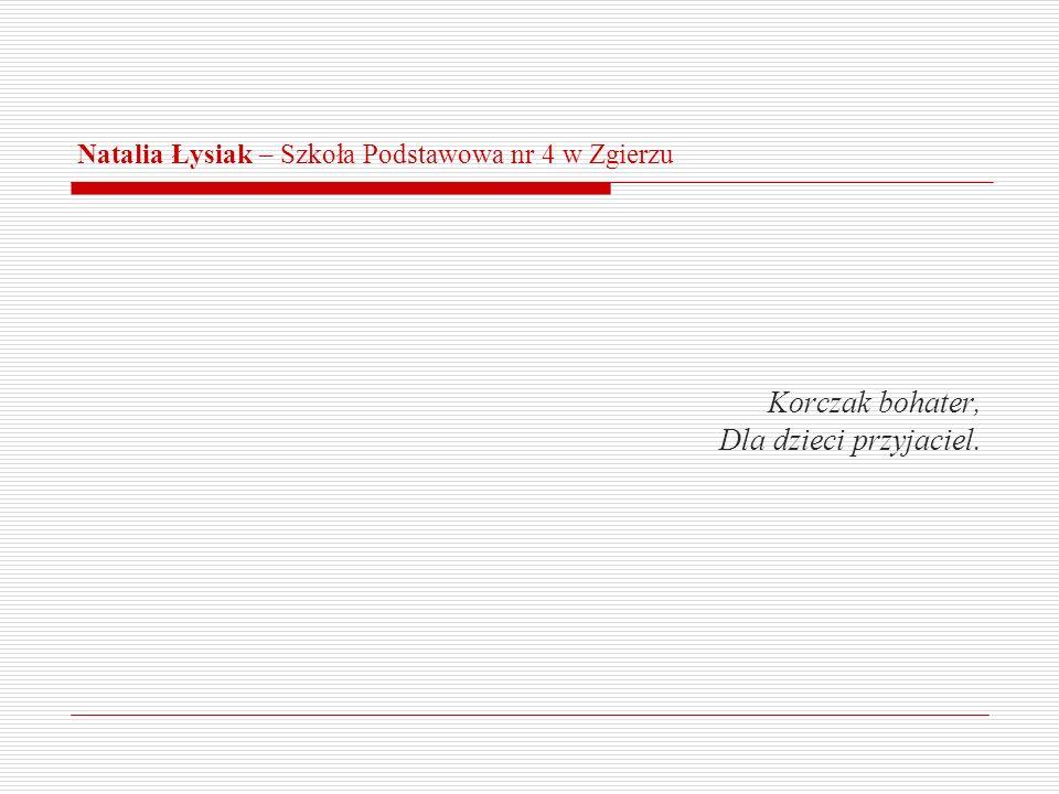 Natalia Łysiak – Szkoła Podstawowa nr 4 w Zgierzu
