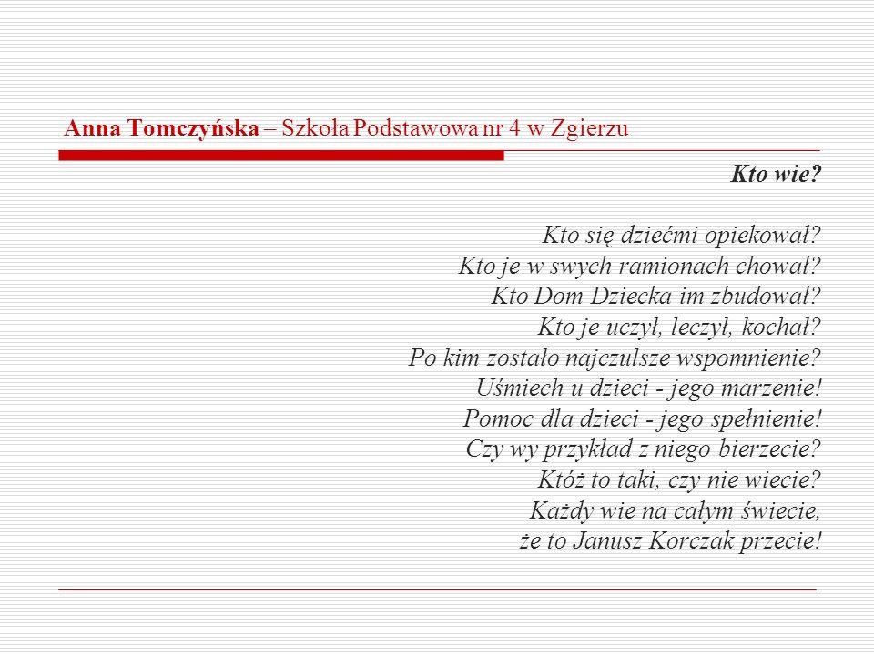 Anna Tomczyńska – Szkoła Podstawowa nr 4 w Zgierzu