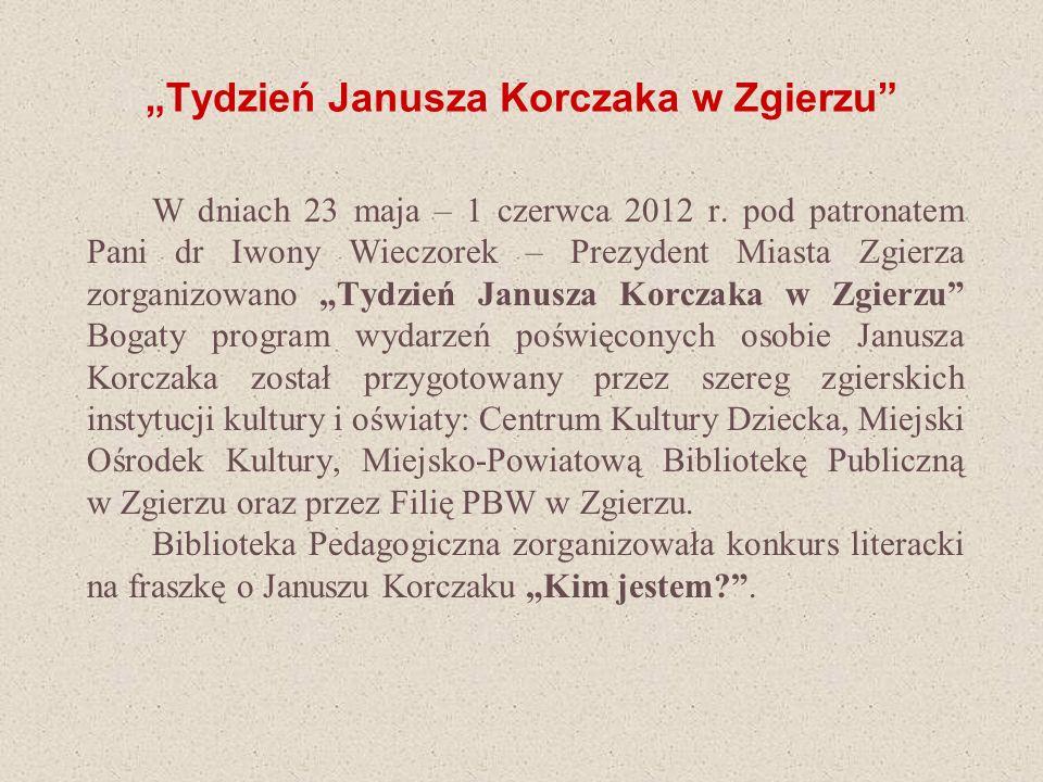 """""""Tydzień Janusza Korczaka w Zgierzu"""