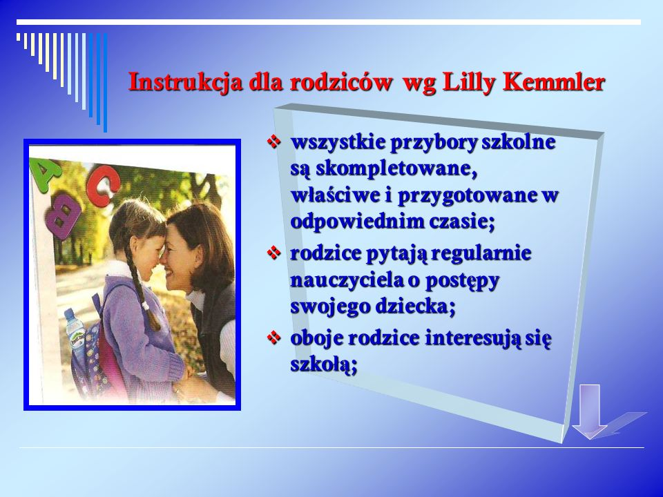 Instrukcja dla rodziców wg Lilly Kemmler