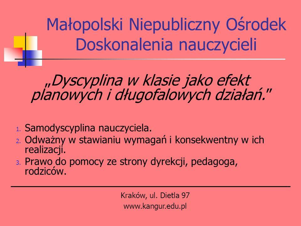 Małopolski Niepubliczny Ośrodek Doskonalenia nauczycieli