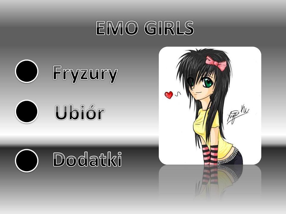 EMO GIRLS Fryzury Ubiór Dodatki