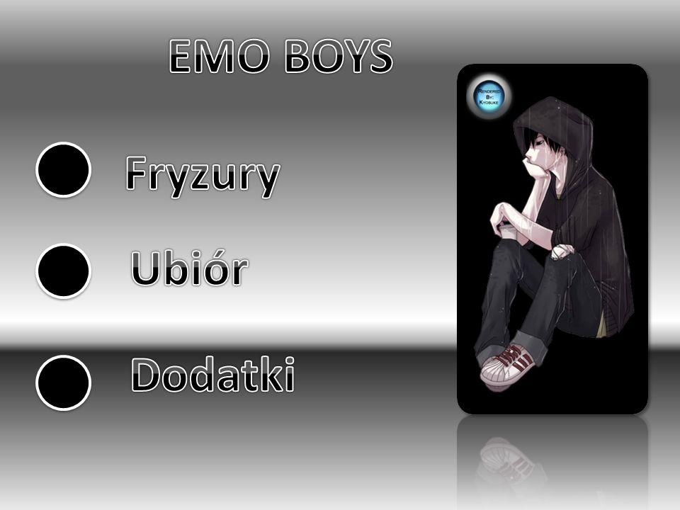 EMO BOYS Fryzury Ubiór Dodatki
