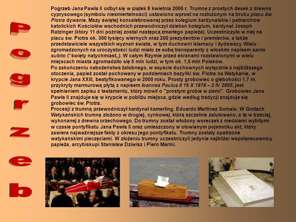Pogrzeb Jana Pawła II odbył się w piątek 8 kwietnia 2005 r