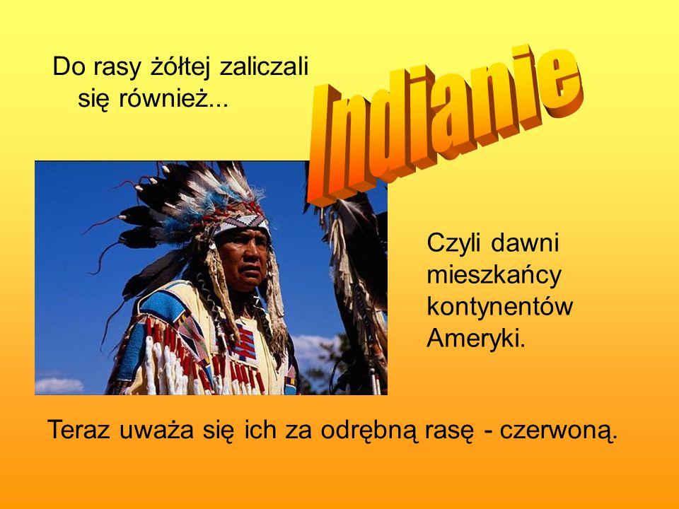 Indianie Do rasy żółtej zaliczali się również...