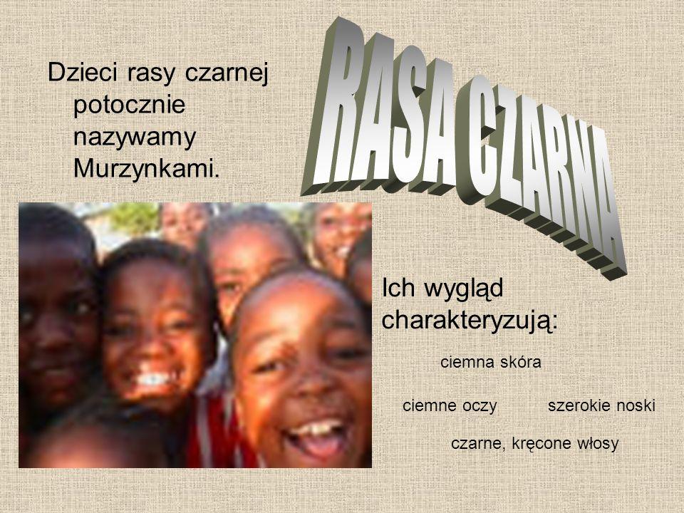 RASA CZARNA Dzieci rasy czarnej potocznie nazywamy Murzynkami.