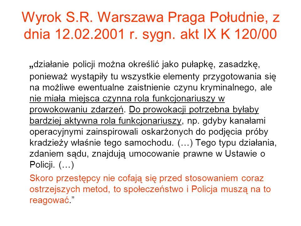 Wyrok S. R. Warszawa Praga Południe, z dnia 12. 02. 2001 r. sygn