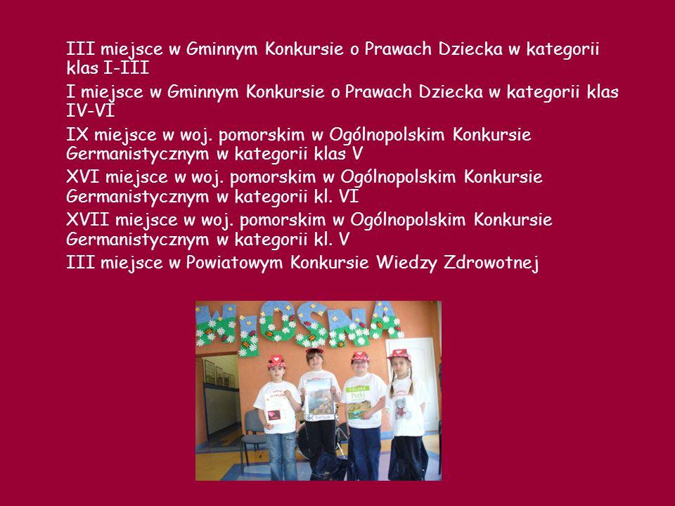 III miejsce w Gminnym Konkursie o Prawach Dziecka w kategorii klas I-III