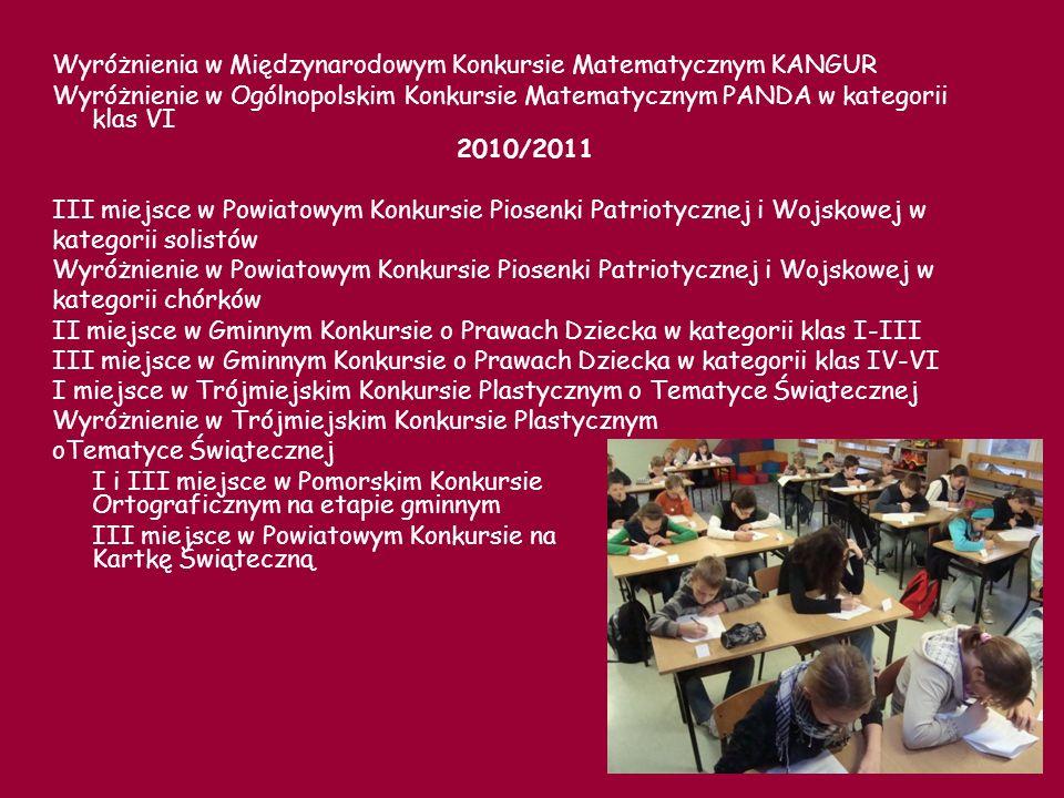 Wyróżnienia w Międzynarodowym Konkursie Matematycznym KANGUR
