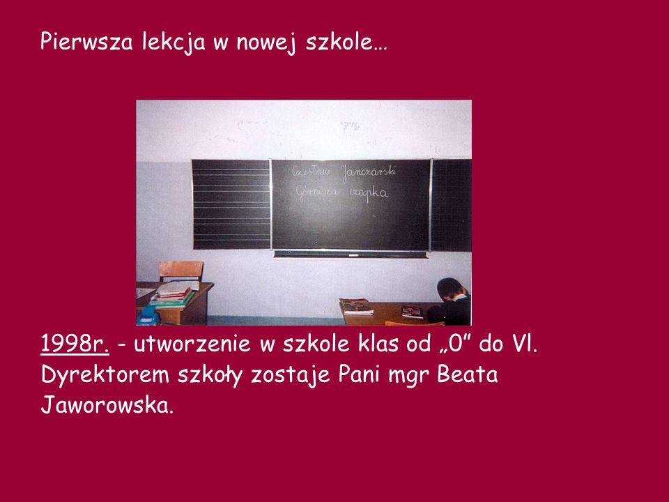 Pierwsza lekcja w nowej szkole…