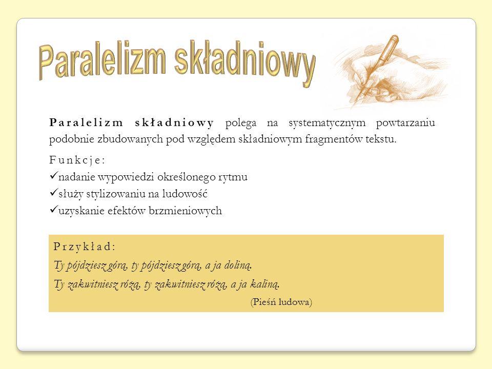 Paralelizm składniowy