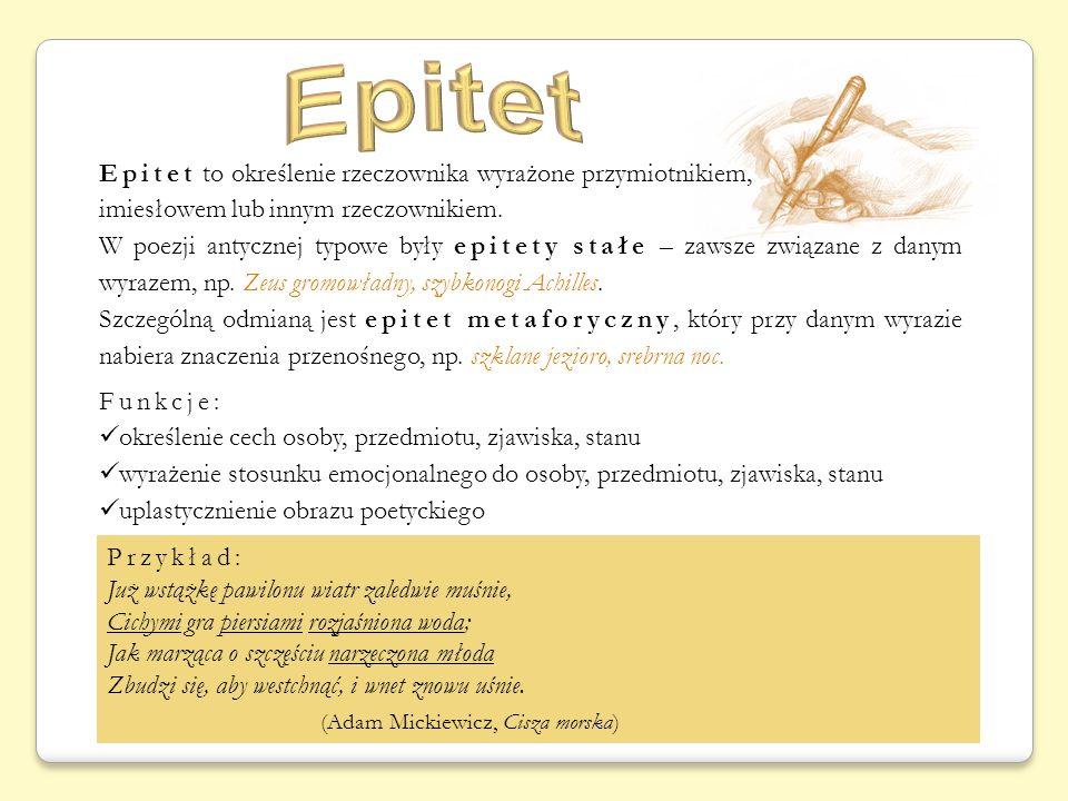 Epitet (Adam Mickiewicz, Cisza morska)