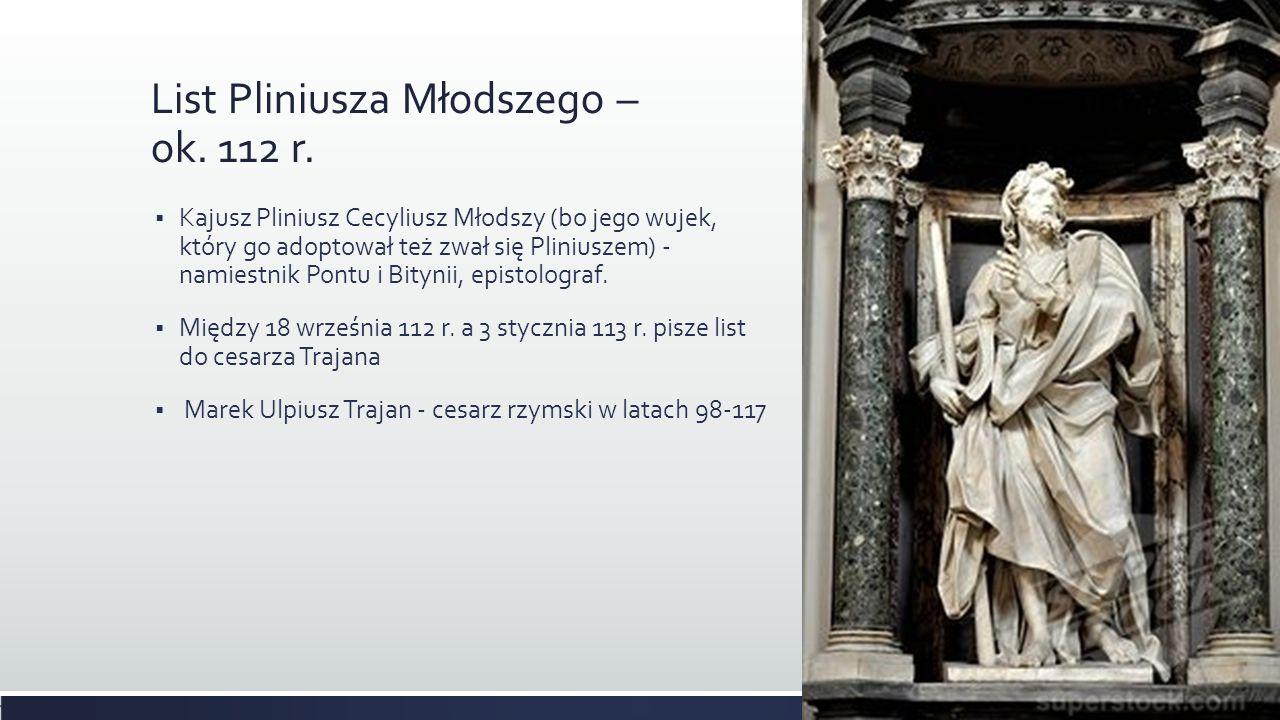 List Pliniusza Młodszego – ok. 112 r.