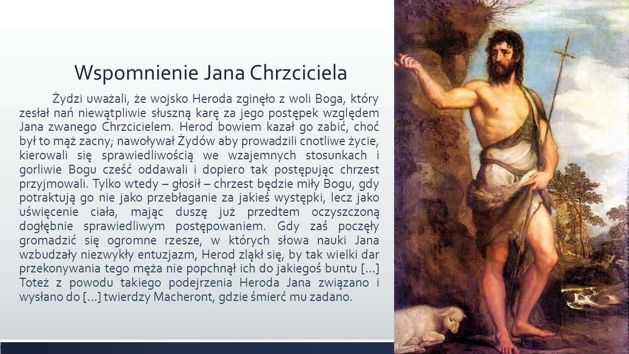Wspomnienie Jana Chrzciciela