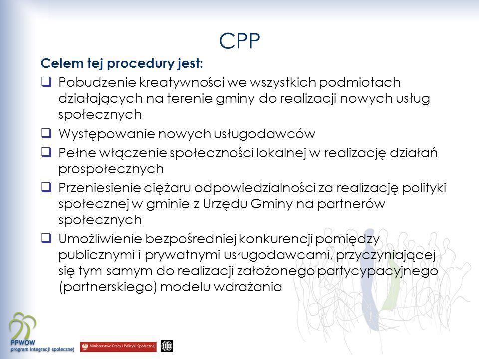 CPP Celem tej procedury jest: