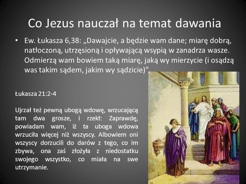 Co Jezus nauczał na temat dawania