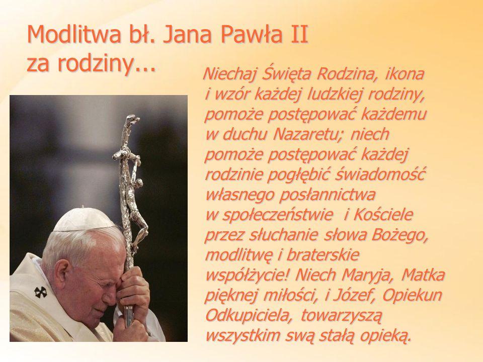 Modlitwa bł. Jana Pawła II za rodziny...