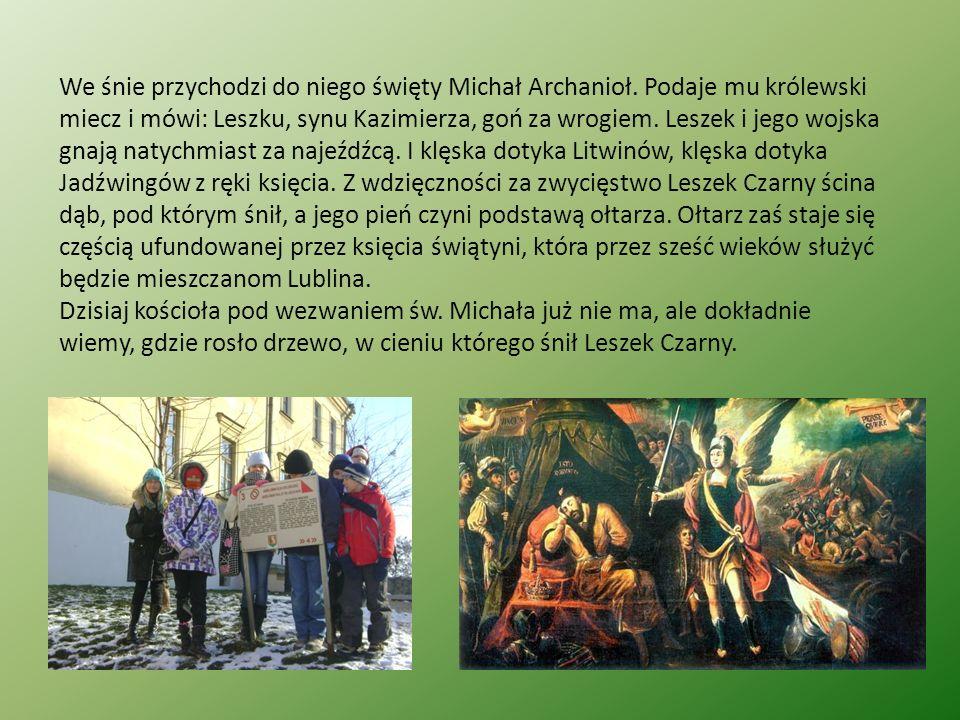 We śnie przychodzi do niego święty Michał Archanioł