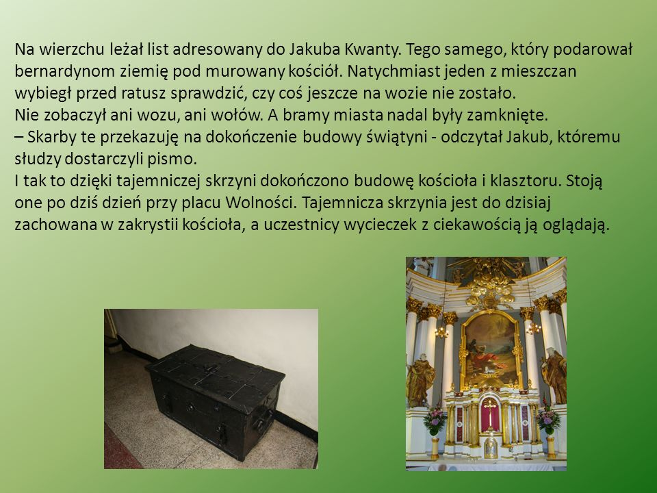 Na wierzchu leżał list adresowany do Jakuba Kwanty