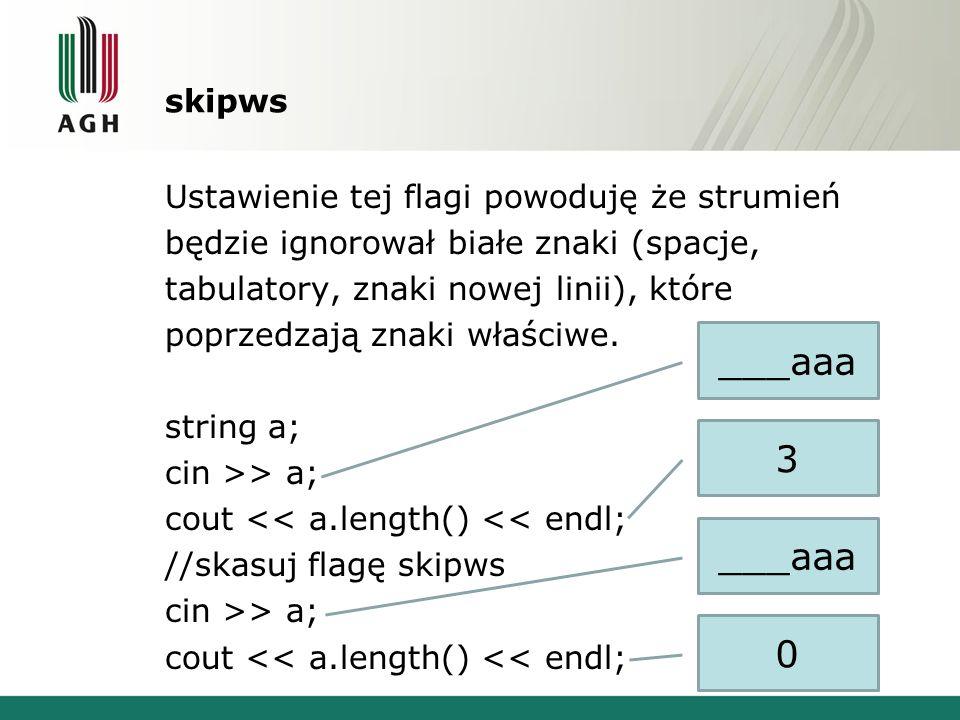 skipws