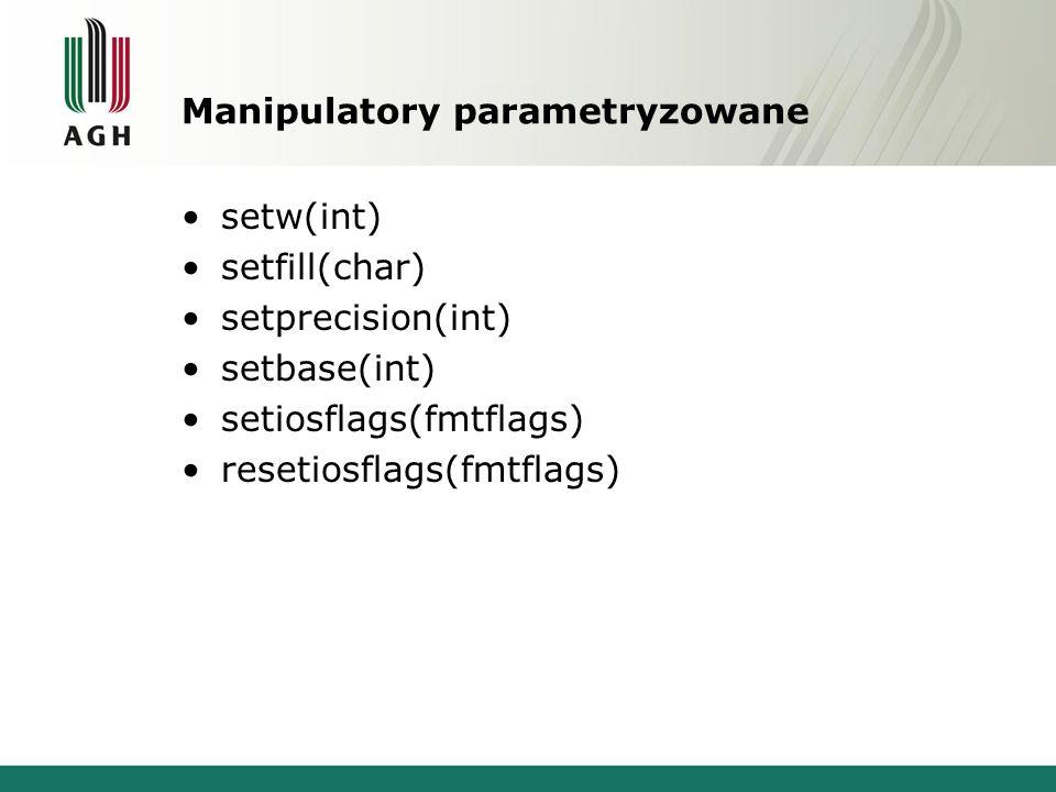 Manipulatory parametryzowane