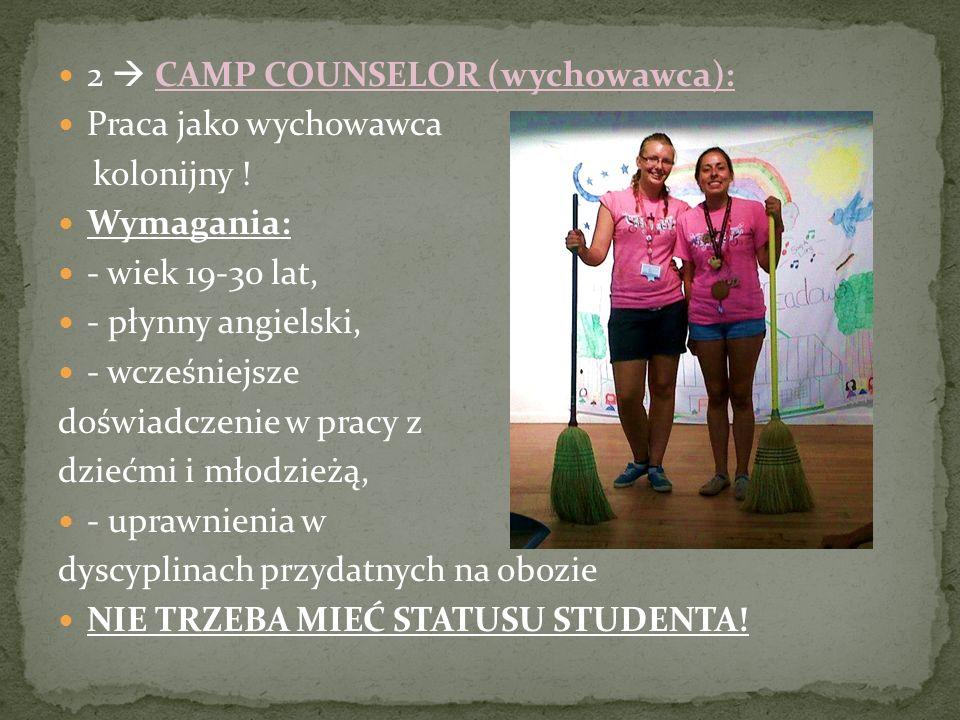 2  CAMP COUNSELOR (wychowawca):