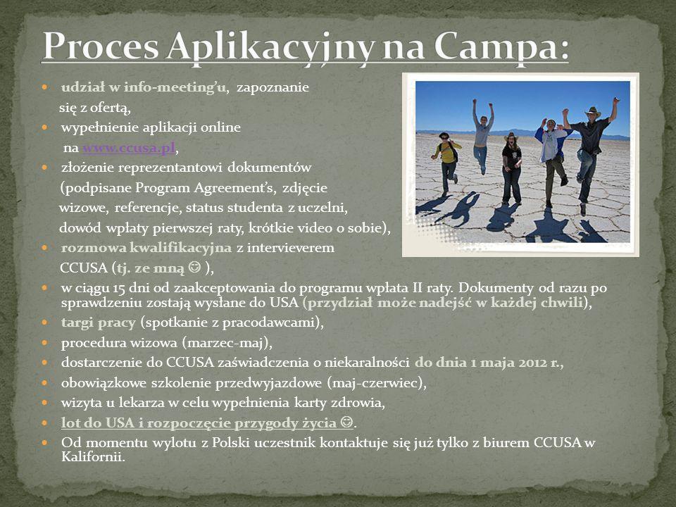 Proces Aplikacyjny na Campa: