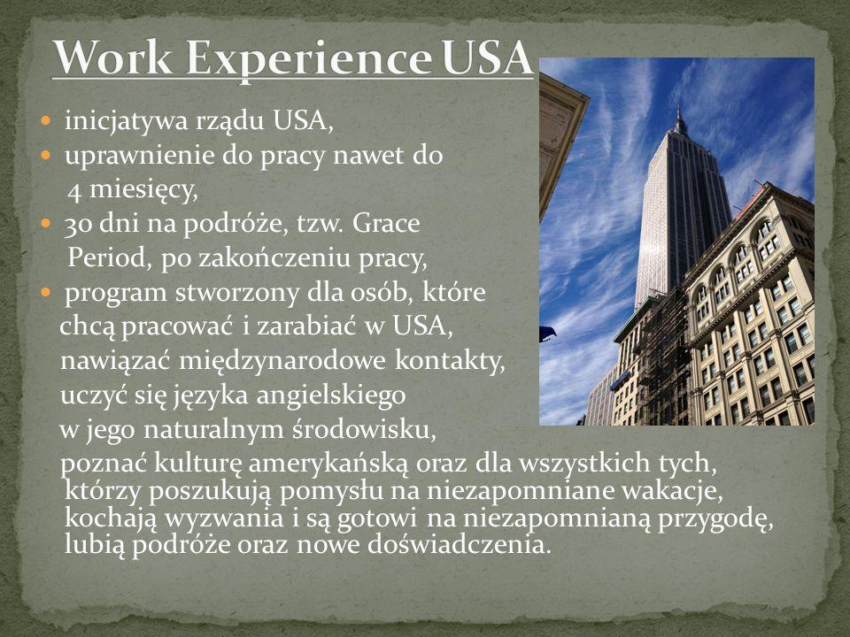 Work Experience USA inicjatywa rządu USA,