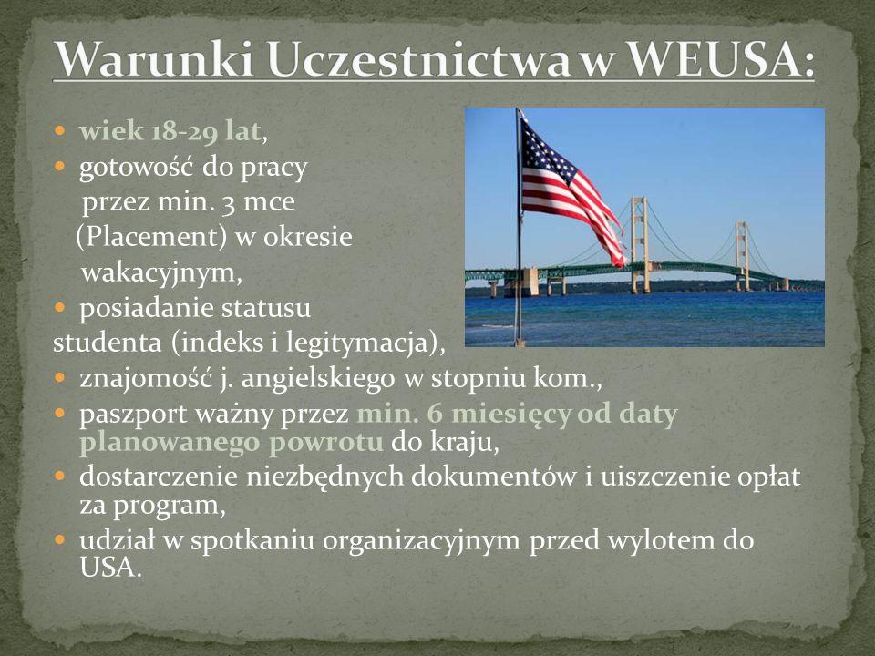 Warunki Uczestnictwa w WEUSA: