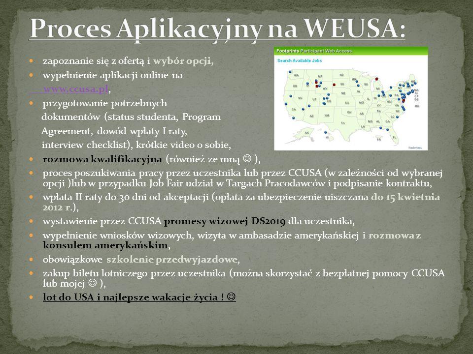 Proces Aplikacyjny na WEUSA: