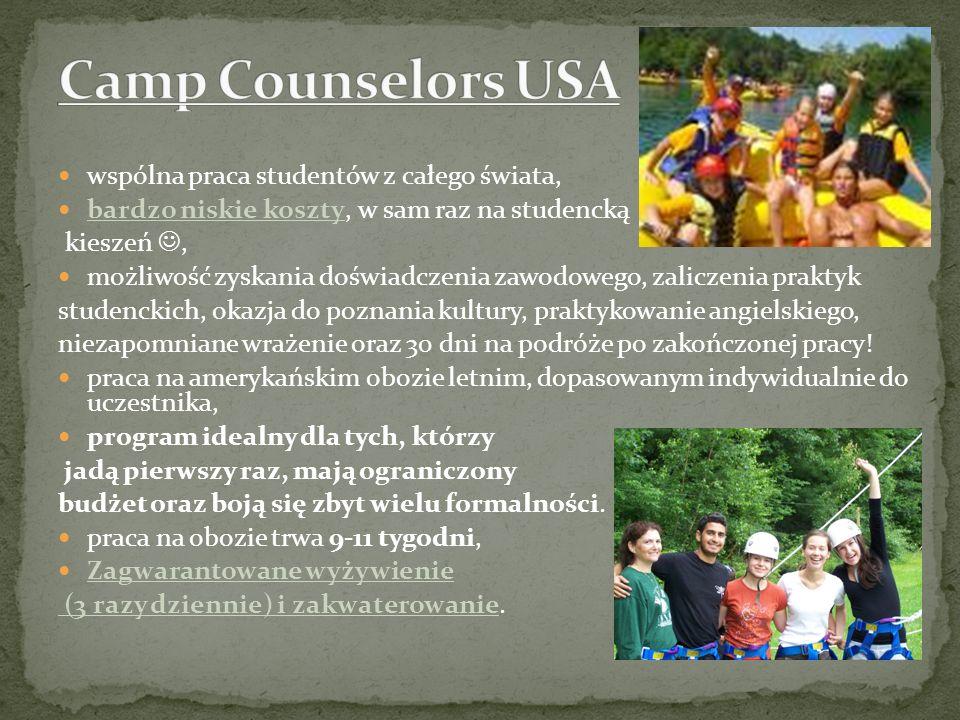 Camp Counselors USA wspólna praca studentów z całego świata,