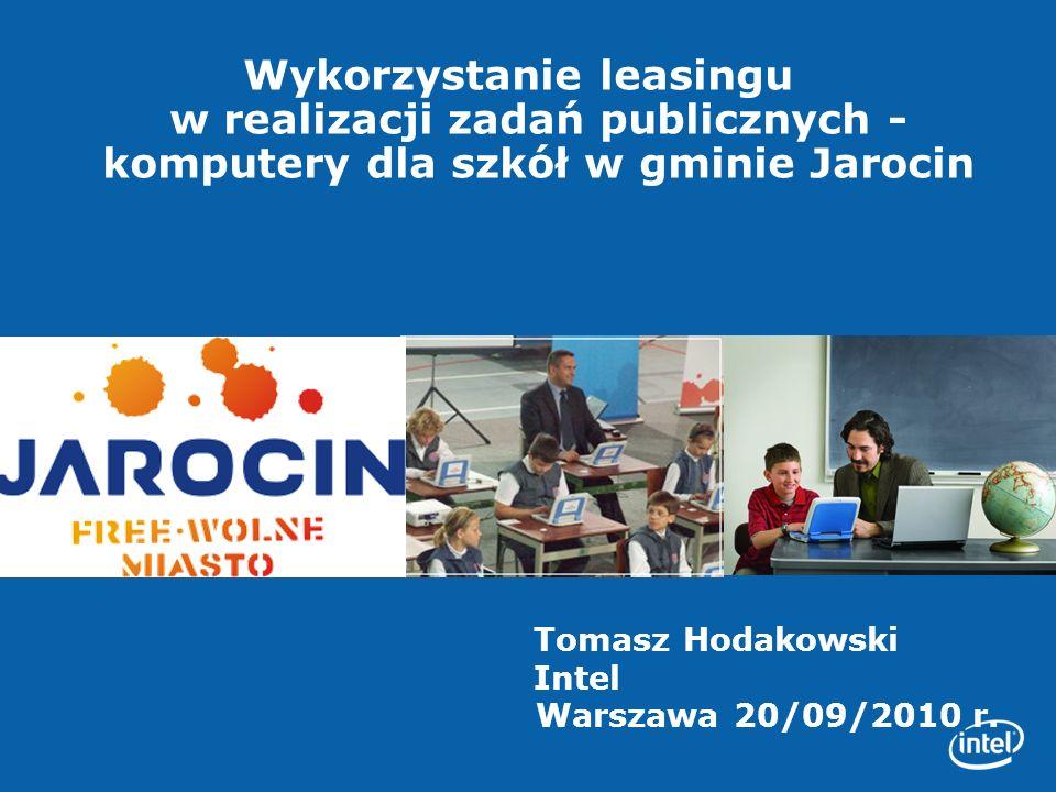 Wykorzystanie leasingu w realizacji zadań publicznych -komputery dla szkół w gminie Jarocin