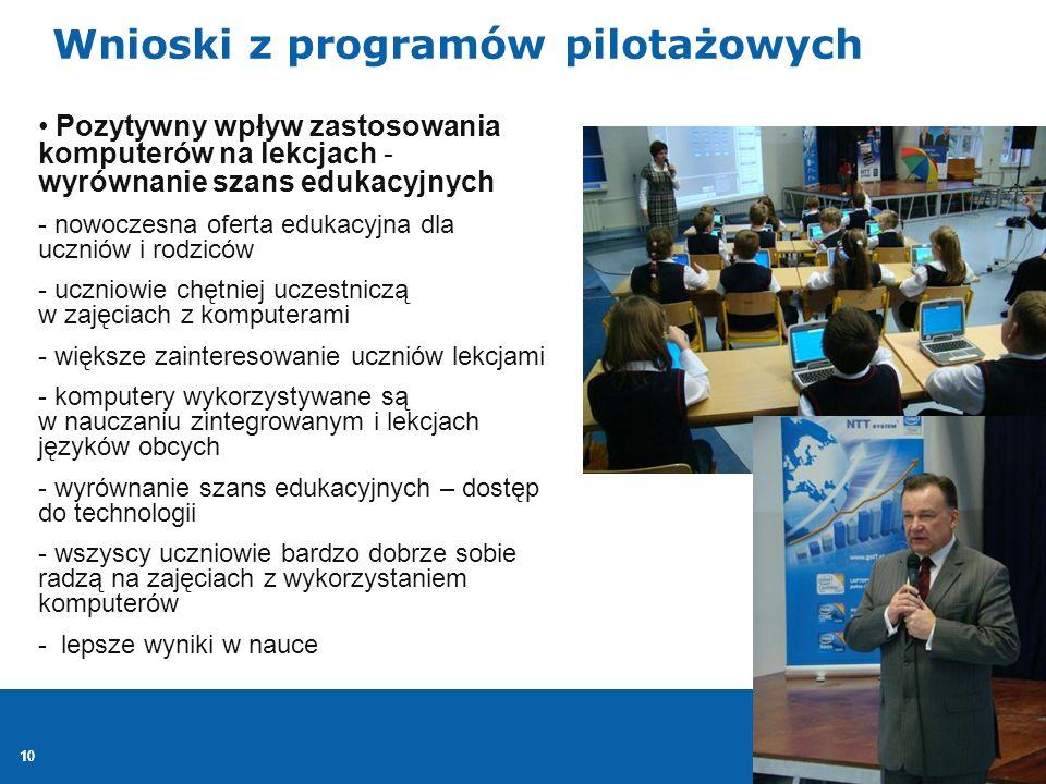 Wnioski z programów pilotażowych