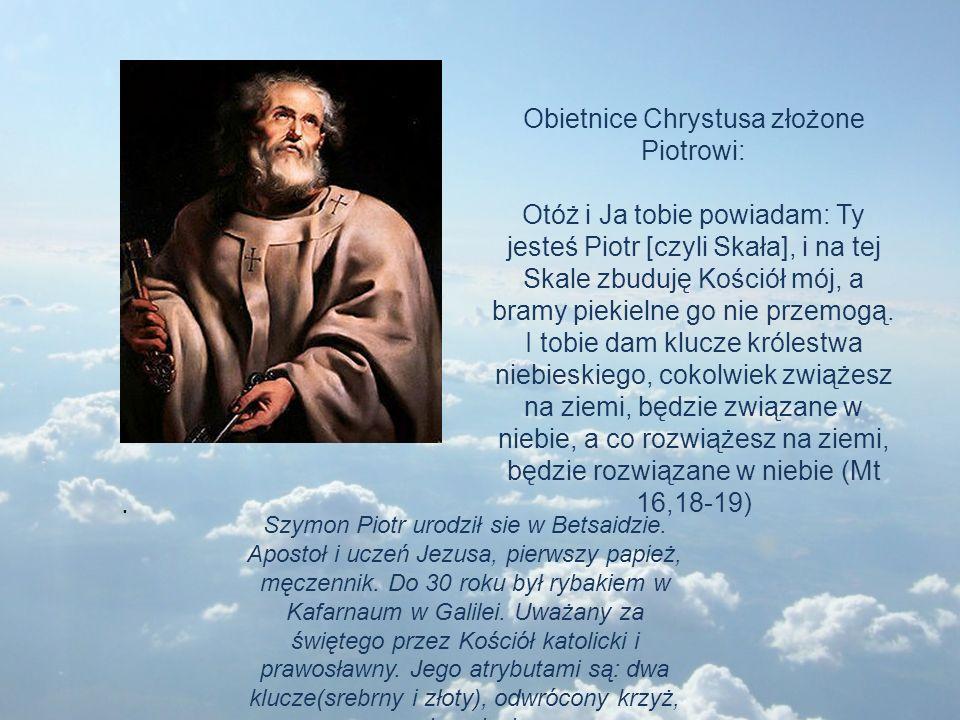Obietnice Chrystusa złożone Piotrowi: