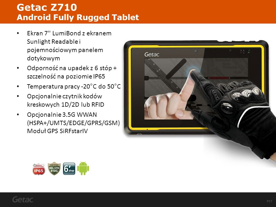 Getac Z710 Android Fully Rugged Tablet