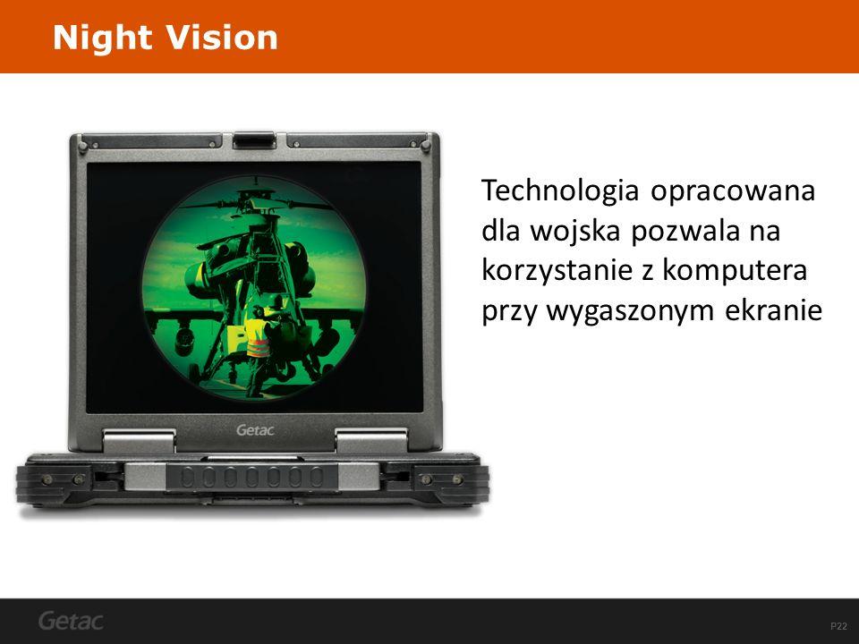 Night Vision Technologia opracowana dla wojska pozwala na korzystanie z komputera przy wygaszonym ekranie.