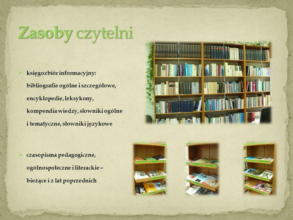 Zasoby czytelni księgozbiór informacyjny: