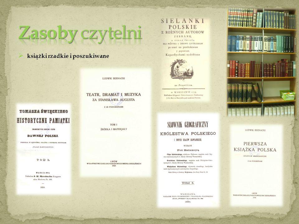 Zasoby czytelni książki rzadkie i poszukiwane