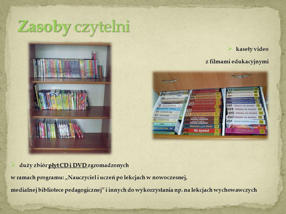 Zasoby czytelni kasety video z filmami edukacyjnymi