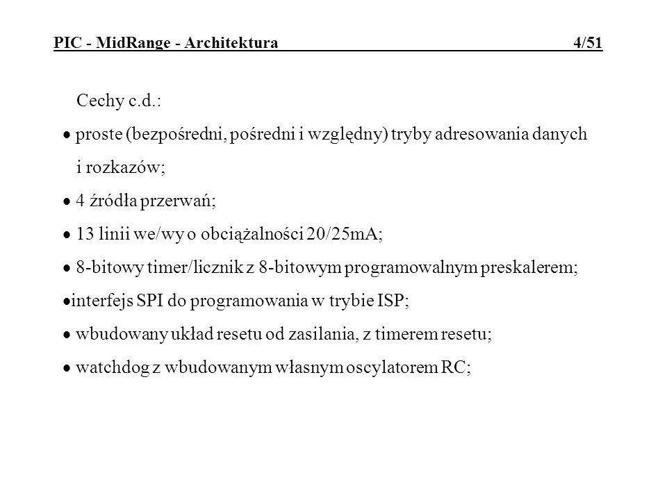 PIC - MidRange - Architektura 4/51